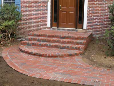 brick stoop, steps, and walk in Fairfax, Va